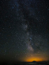 Photo: Mt. St Helens and the Milky Way backlit by Portland