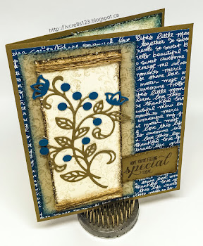 Linda Vich Creates: Flourish Thinlits For Global Design Project. Shabby chic style card using the Flourish Thinlits.