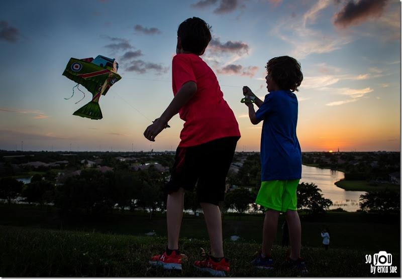 Kite Sunset silhouette-8646