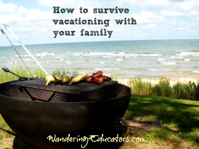How to survive vacationing with your family. Tip: Sharing is caring: Cooking