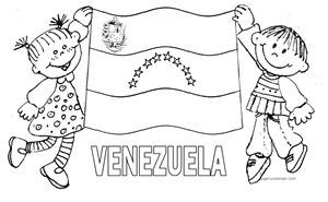BANDERA VENEZUELA COLOREAR