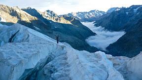 Glacier de La Pilatte, mouvementé!