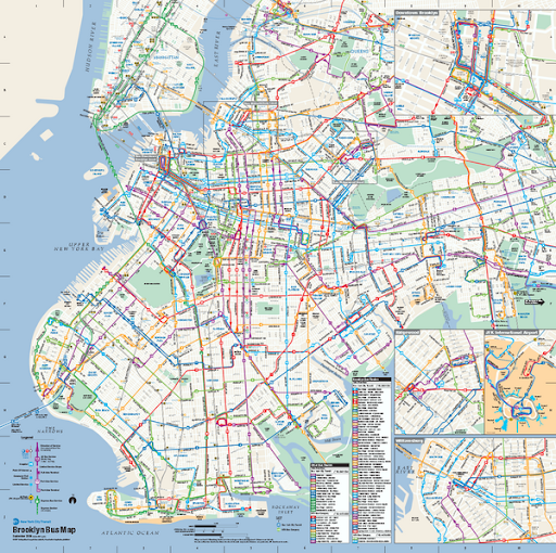 Mta Bus Map Brooklyn New York Metro Map: Brooklyn New York MTA Bus Map.