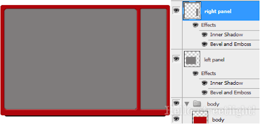 Right panel with layer styles.