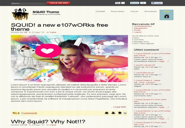 Free Art Blog Business E107 Theme Template