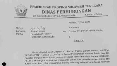 Kepala UPTD Pelabuhan Mawasangka Tidak Pernah Beri Izin Sandar Tongkang