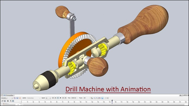 Drill Machine with Animation_1