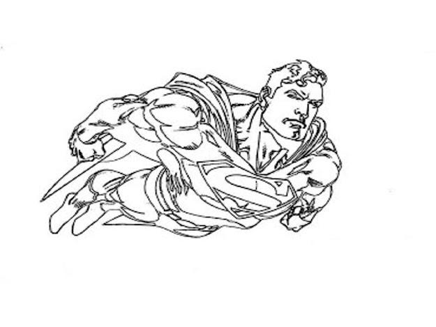 Image Of Superman Coloring Pages Free Printable
