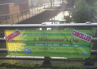 Photo: The summer fayre cancelled in Horncastle with the rivers at their brim and more rain forecast. http://www.horncastlenews.co.uk/lifestyle/leisure/summer-festival-cancelled-1-4030775