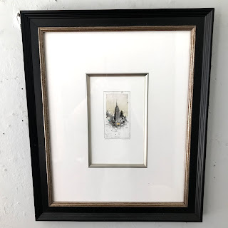 Alexander Befelein Signed 'Empire State Building' Etching (Small)