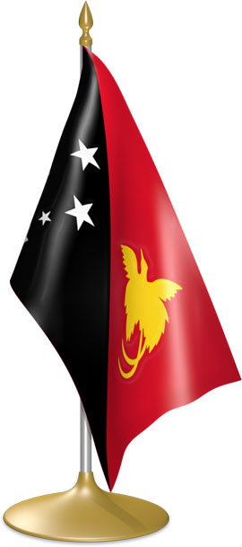 Papua New Guinean table flags - desk flags