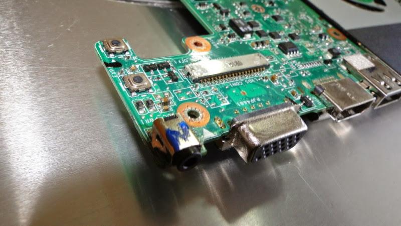 Dc Jack terus ke motherboard