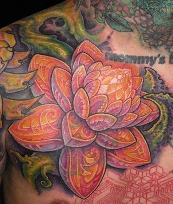 detalhada_flor_de_ltus_da_tatuagem