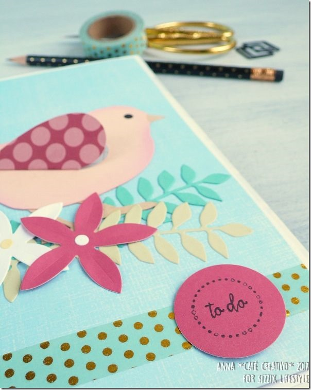 Quaderno personalizzato little-bird con la Big Shot e le Fustelle Sizzix