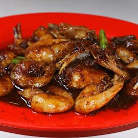 Udang Mentega by Mulawardi Sutanto - Food & Drink Plated Food ( seafood, anyer, udang, mentega, travel, enak, indonesia, food )