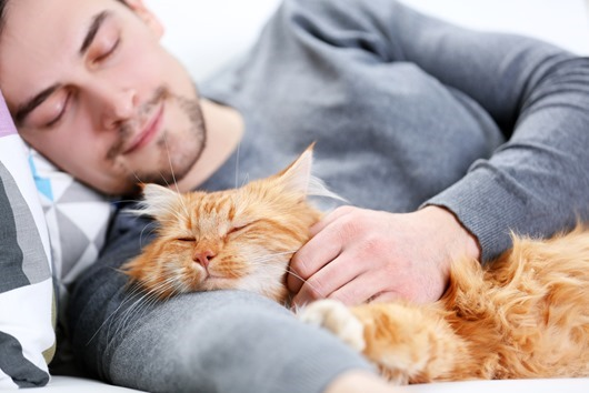 young-man-and-cat