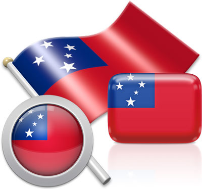 Samoan flag icons pictures collection