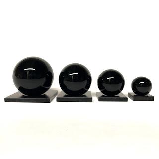 Cub-Ar Graduated Obsidian Sphere Set