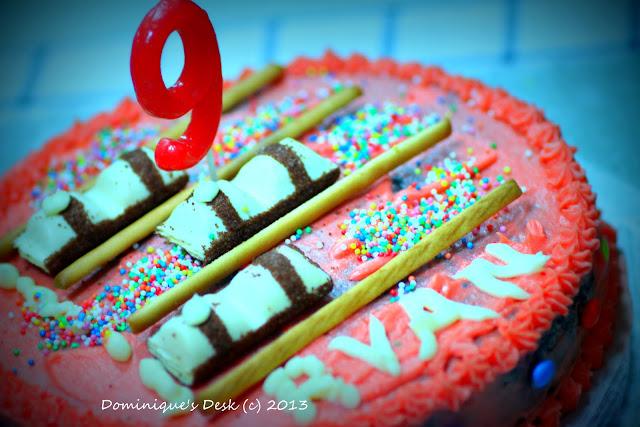 The cake close up