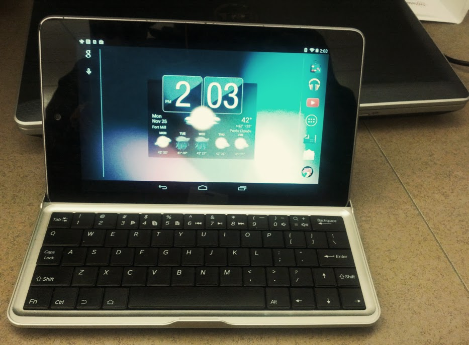 Nexus 7 2012 with MiniSuit Blootooth Keyboard