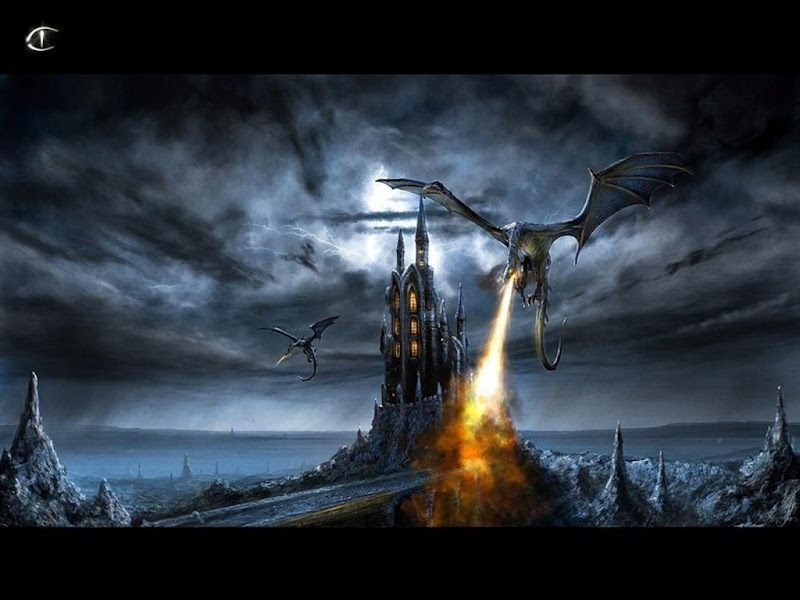 Black Dragons And A Castle, Dragons