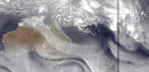 coral sea watervapor loop tropical storm 27th feb 2014