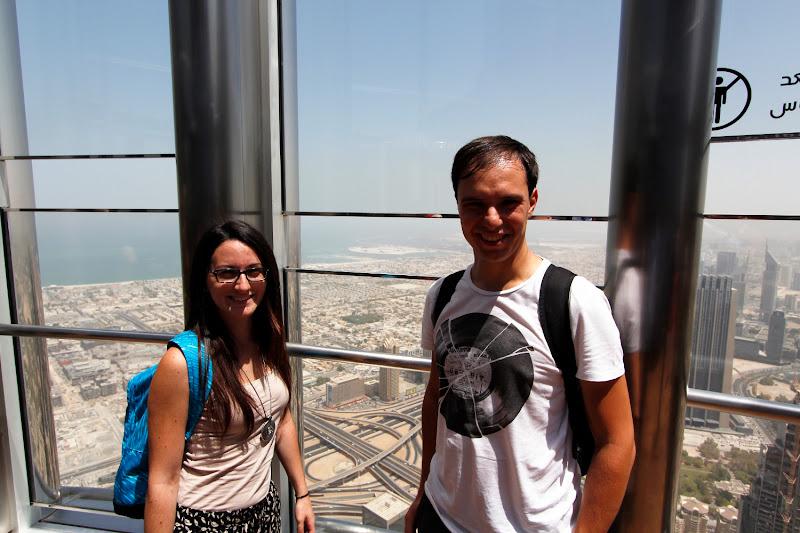 En la terraza del Burj Khalifa