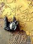Bamberg, Welterbetafel, Bronze, Messing, Glas, Detail 2007