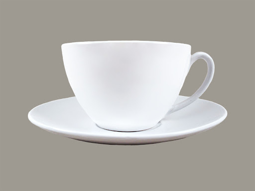 Billy Cotton White Cup & Saucer