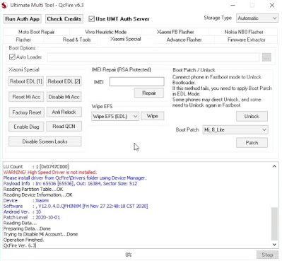 REDMI NOTE 7 Pro MI ACCOUNT Unlock UMT Free Auth Services