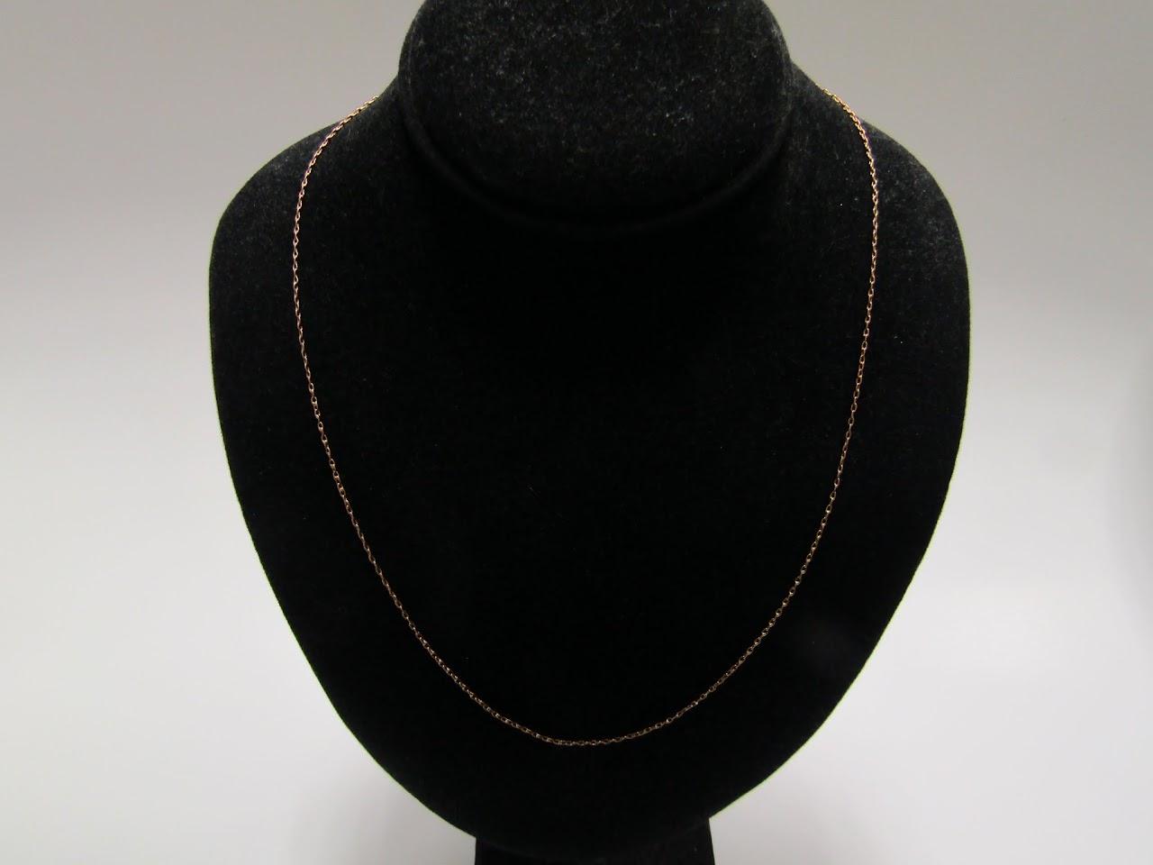 14 K Gold Thin Chain