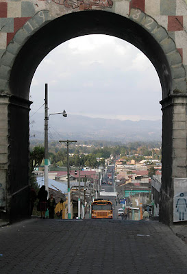 Chichicastenengo. Built on a hill, this arch is an underpass. Photos by TOM HART