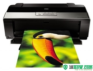 How to reset flashing lights for Epson R1900 printer