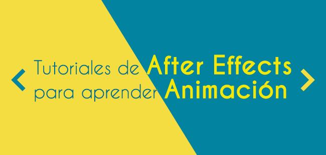 Tutoriales de After Effects para aprender Animación
