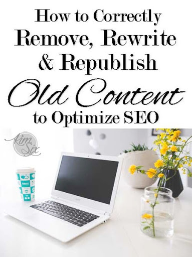 How to correctly delete, rewrite and republish old posts for SEO Opimization on blogger.  No broken links or duplicate content