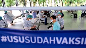 Songsong Kuliah Tatap Muka, 3 Ribu Dosen dan Tendik USU Vaksinasi Tahap II