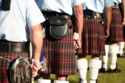 pakaian tradisional Scotlandia