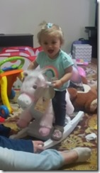 10 days later she loves the rocking horse