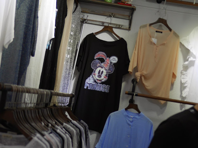"Mickey Mouse ""FRANCE"" shirt for sale at Shiji Tianle in Beijing"