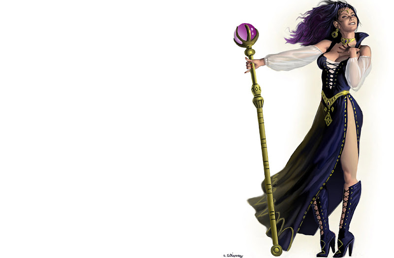 Wiccan Girl With Staff, Wicca Girls