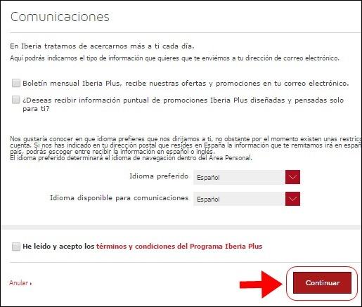 Abrir mi cuenta Iberia - 622