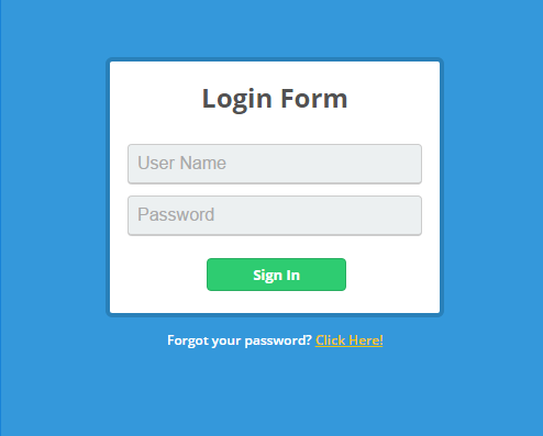 Free Simple HTML CSS Login Form Template 1 | Tutorial Jinni