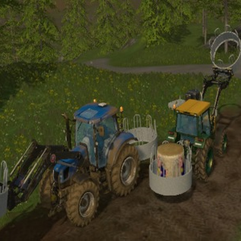 Farming simulator 2015 - Fressgitter with hay bales V 2.0