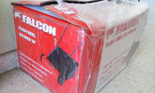Falcon Push Reel Mower Delivery Box