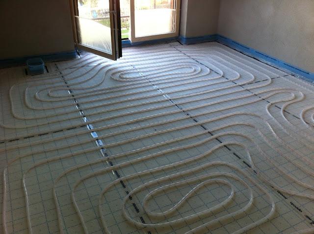 Fußbodenheizung Arbeitszimmer EG