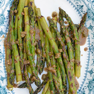 Grilled Asparagus with Balsamic Caper Vinaigrette Recipe