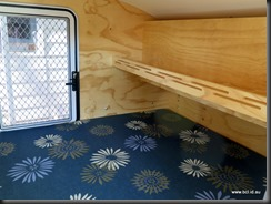 Original Teardrop Camper Sleeping Compartment