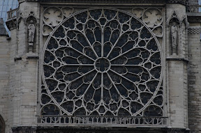 Exterior view of the South Rose window, Notre Dame