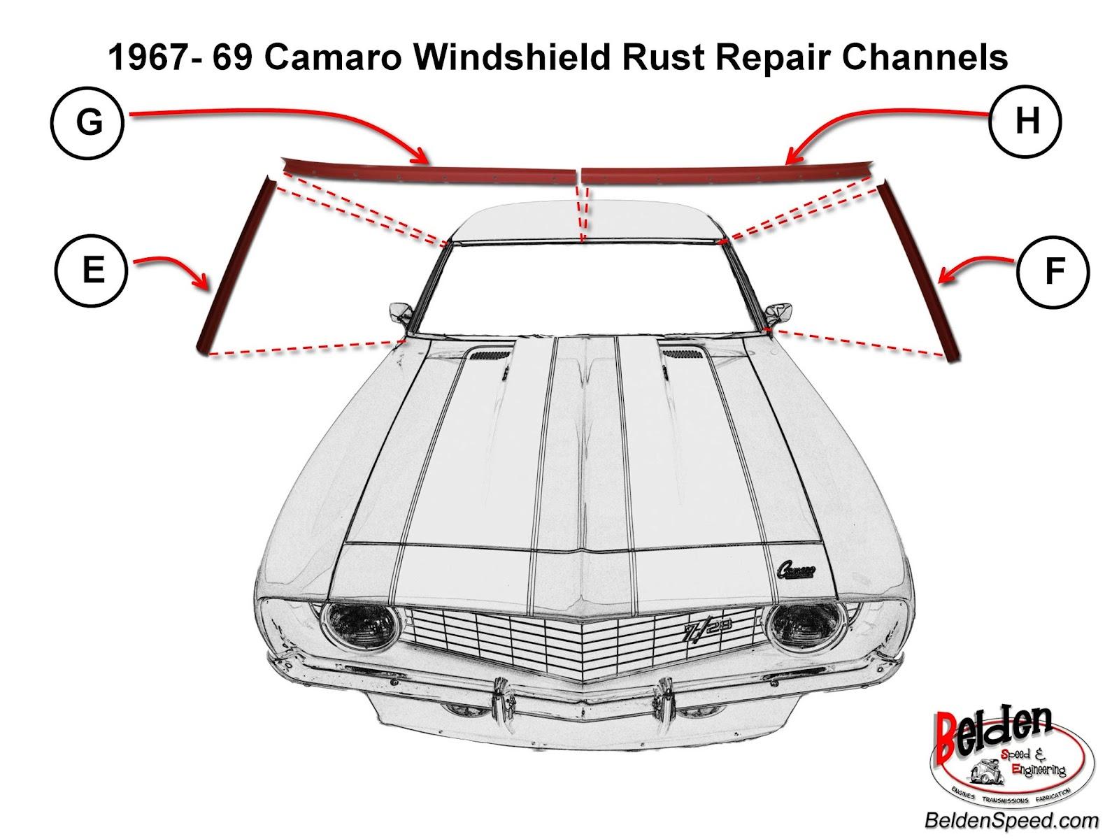 1981 Camaro Windshield And Rear Window Rust Repair