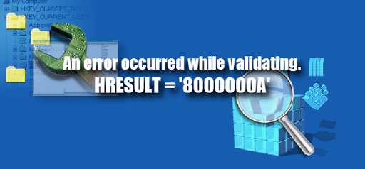 Visual studio an error occurred while validating hresult